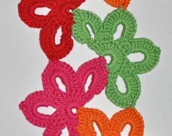 CROCHET PATTERN Floral Fiesta Scarf Crochet Pattern in PDF Instant Download