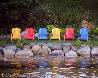 Already Missing Summer - Lake Photography - Fine Art Print, Nature - 8x10 Print - Minnesota - Bright Colors - Reflections