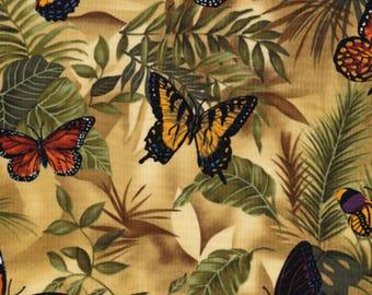 Timeless Treasures - Butterfly Garden - Rain Butterflies - Neutral - Fabric by the Yard C3518-NEUT
