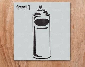 "Spray Can Stencil- Reusable Craft & DIY Stencils- S1_01_33_S -Small-(5.75""x6"")- By Stencil1"