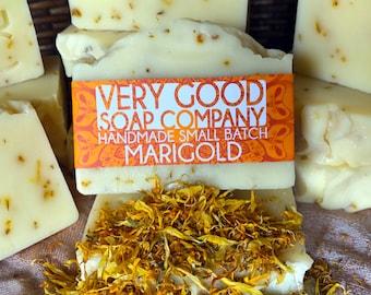 Marigold Soap // Cold Process Soap // All Natural Calendula Silk Soap // Vegan Soap