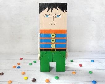 Ooak Boy Art Doll, Boy Doll Decor, Paper Boy Figure, Personalised Boy Decor, Handmade Boy Doll, Paper Boy Decor, Boy Gift, Children Decor