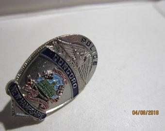 "CONCORD NEW HEMPSHIRE  Police  1"" miniature  Badge Lapel  Pin Tie Tac"