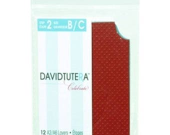 Darice 12-Pack David Tutera Step 2 Card Layer, A2, Die Cut Oval RG3-D466