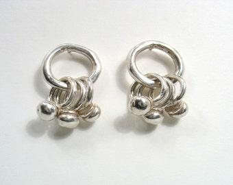 Sterling silver  stud earrings-Ring the Bells