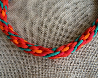 Clémentine: kumihimo necklace
