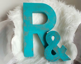 "8"", 12"", or 16"" Faux Patina Paper Mache Letters A-Z and AMPERSANDS available"