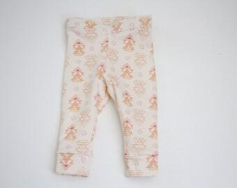 Girls Cuffed Leggings Aztec Boho Girls Leggings, Girl Clothing, Toddler Leggings, Baby Leggings, Girl Pants, Baby Pants, Cuffed, Kid Pants