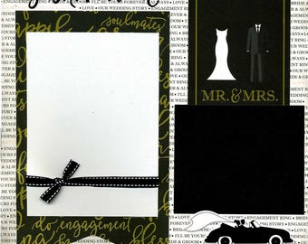 Just Married - Premade Scrapbook Page