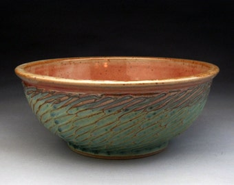 2 Quart Bowl- Aqua and Shino Glazed - Made to Order