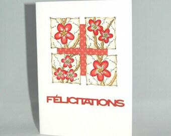 Wedding - cherry blossom greeting card