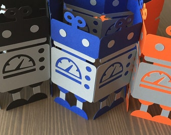 3D Standup Robot Party Decorations