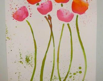 Original art; a flower drawing.