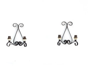 Pair of French Steel Wall Sconces