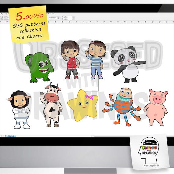 Little Baby Bum Svg Patterns Collection And Png Images