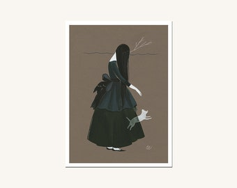 Walking Through - archival mini print by Amy Earles