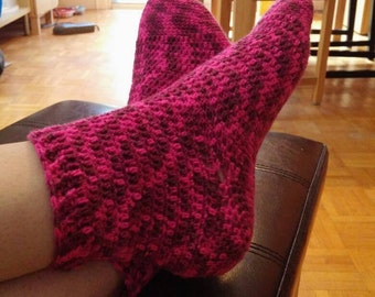Crochet Sock Pattern for all sizes, socks