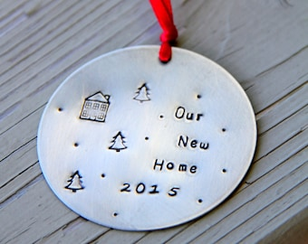 First Home Owner Ornament, Personalized, Christmas Custom Ornament, Welcome Home Gift, New Couple, New Home, Wedding Gift