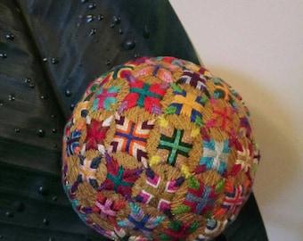 """Decorative, handmade  4"""" Japanese Temari Ball"""