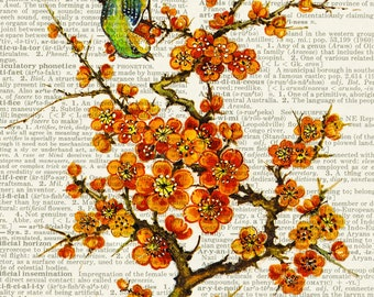 blossoms, 16oo's blossom painting print