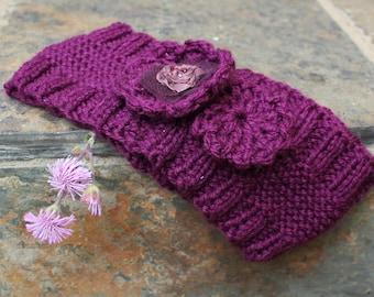 Knitted headband , Boho ear warmer , Hair accessories , Hippie hairband , Cute ear warmer ,Hairband , Fashion accessory.