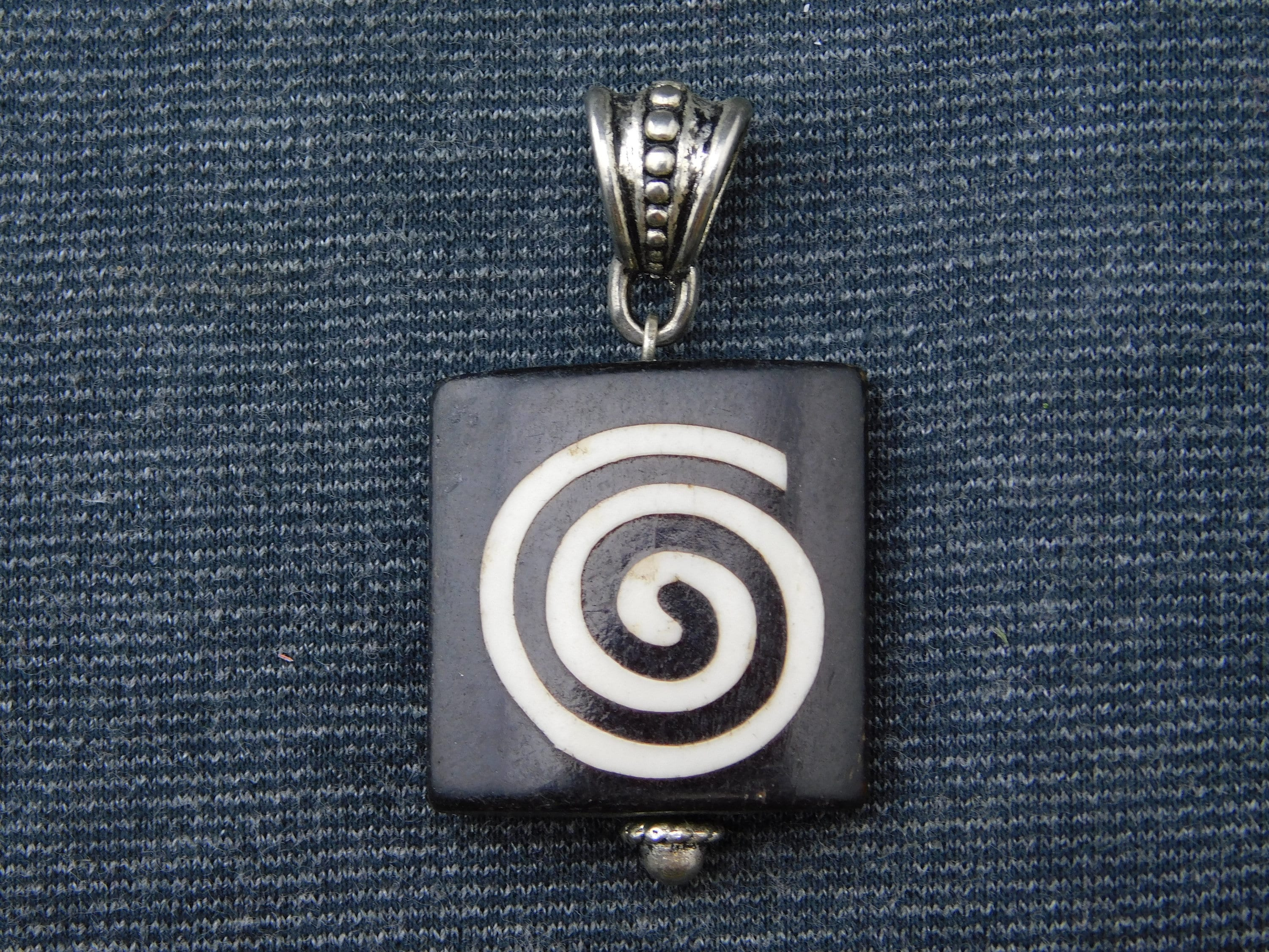legend style an chain woven pendant on celtic adjustable spiral pewter