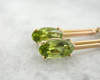 RESERVED One of a Kind Peridot Drop Earrings in Antique Mountings DM1ZWD-N