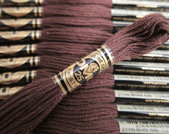 838, Very Dark Beige Brown, DMC Cotton Embroidery Floss - 8m Skeins - Full (12-skein) Boxes - Get Up To 50% OFF, see Description