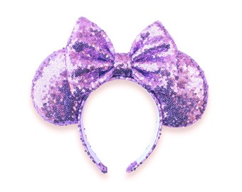 Lavender Sequins Mouse Ears