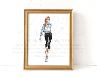 Athleisure (Fashion Illustration Print)