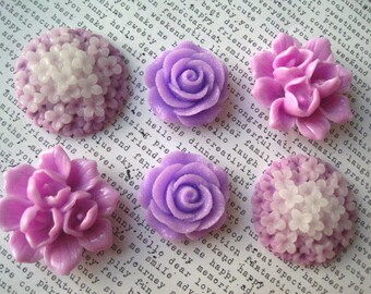 Large Fridge Magnets, 6 pc Flower Magnets, Lilac, Fridge Magnet, Housewarming Gifts, Wedding Favors, Locker Magnets