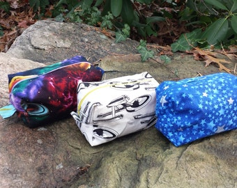 Tiny Zipper Bag / Pouch - Space Above and Beyond
