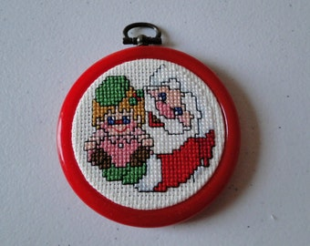 Santa with Doll Ornament