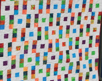 "Square Step 2-1/2"" Strip Quilt Pattern - Multiple Sizes -  PDF Version"