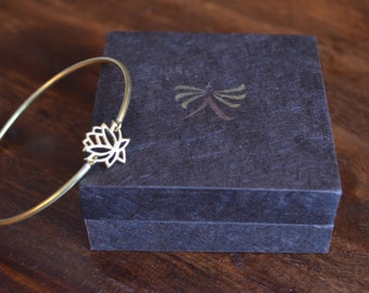 Handcrafted Brass Lotus Bracelets from Nepal