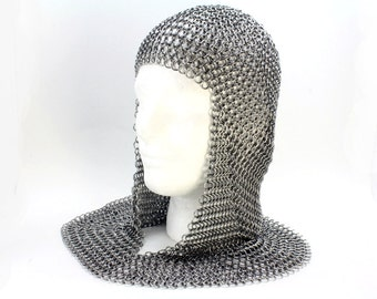 Medieval Knight Armor Chainmaille Coif - Custom Made
