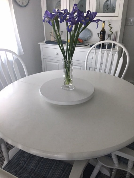 Low Profile Small Wood Lazy Susan For Dining Table Or Counter