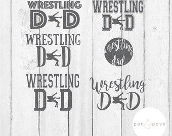 Wrestling Dad SVG - Wrestling Dad Cut File - Wrestling SVG - Sports Dad SVG - Wrestling Dad Clipart - Wrestling Clipart - Sports Dad