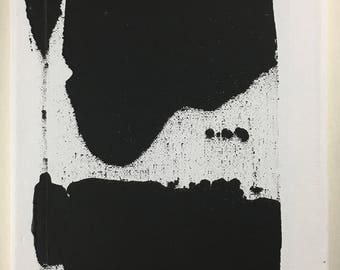2018 special offer- Free postage! Contemporary abstract acrylic on canvas. 'Secret 5' Black and white action painting.