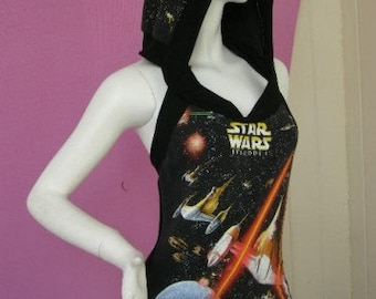 CUSTOM halter hoodie top made FROM your SHIRT