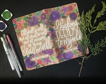 Hand Painted-Personalized Custom Journal