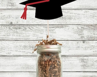 Graduation Cap Graduation Centerpiece / High School Graduation / College Graduation / Graduation Mason Jar /Graduation Party Centerpieces