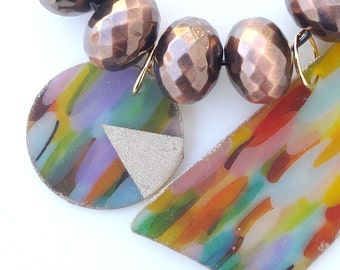 Color Explosion Asymetrical Necklace