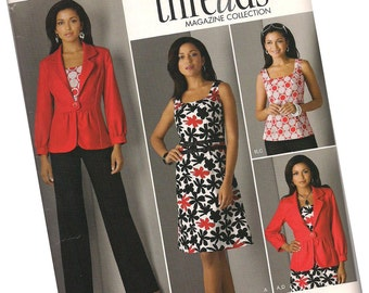 SIMPLICITY 2703 Threads Collection by Simplicity, ladie's blazer, dress, tank, and sundress, sizes 8, 10, 12, 14, and 16, new and uncut