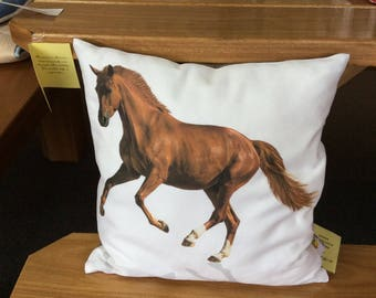 Dancing horse cushion cover 30cm x 30cm