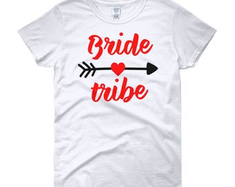 Bride Tribe Red Women's short sleeve t-shirt
