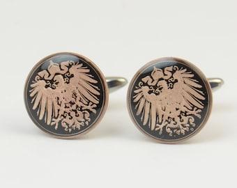 Men Cufflinks Germany enamel Coin.