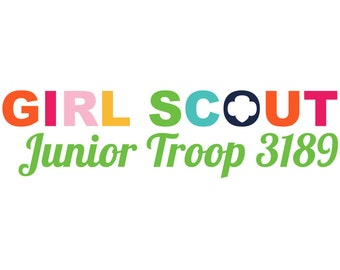 Personalized Girl Scout Junior Troop Logo