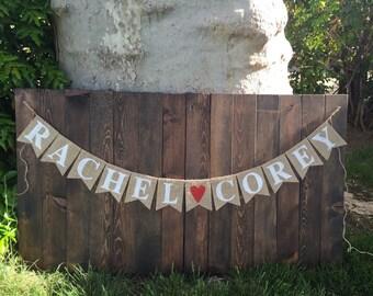 Burlap Banner WEDDING Custom Banner Rustic Wedding Garland Wedding Decoration Spring Wedding Banner Mr and Mrs Banner