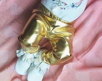Gold Metallic Baby Leggings Baby Pants Size 6-9- Toddler Pants - Baby Leggings - Toddler Leggings - Baby Clothing - Kids Leggings